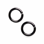 Snapeez II Ultraplate 8mm Jump Rings - Blackjack Black Nickel (25)