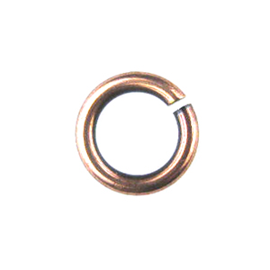 Snapeez II Ultraplate 8mm Jump Rings - Flamed Copper (25)