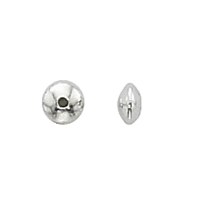 Sterling Silver 3.3mm Saucer Spacers w/1.1mm hole (100)