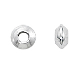 Sterling 4mm Saucer Spacers w/1.8mm hole (50)