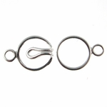 Sterling Silver 9mm Hook 'n' Eye Single Strand Clasps