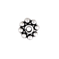 Sterling Silver Bali Bead 26 Daisy Spacer 3.5x1.2mm  with 1mm hole (50pk)