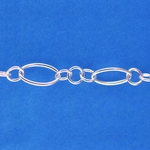 Sterling Silver Chain 020 - Heavy Oval Long & Short
