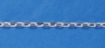 Sterling Silver Chain Heavy Diamond Cut Cable 4 x 2.75mm, by the foot, ch078