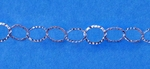Sterling Silver Chain 104 - 7x8mm Flat Hammered Cable