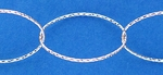 Sterling Silver Chain 340 - Large Diamond Cut Oval Cable