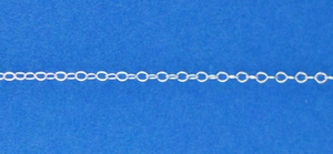 Sterling Silver Chain, Fine Dainty Flat Cable 1.3mm, per foot, ch557
