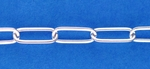 Sterling Silver Chain 630 - Medium 14mm Long Cable