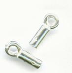 Sterling Silver Crimp End Caps 2.8x10mm (10pk)
