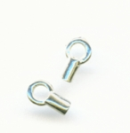 Sterling Silver Crimp End Caps 2x6mm (10pk)