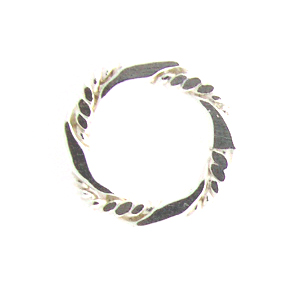 Sterling Silver Fancy 12mm Closed Ring/Link #03