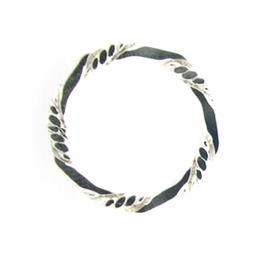 Sterling Silver Braided Fancy 16mm Closed Ring, Jewelry Findings Link