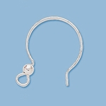 Sterling Silver  Silver Fancy Earwires 01 (1 pair) 22mm