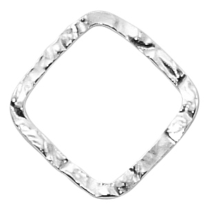 Sterling Hammered 20mm Closed Ring/Link #01