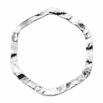 Sterling Hammered 21mm Hexagon Closed Ring/Link #02 discontinued by vendor