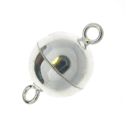 Sterling Silver Magnetic Clasp 10mm Round
