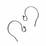 Sterling  Silver Short French Hook Earwire with 2mm Ball, 20 pc, closeout