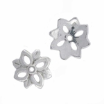 Sterling Silver 11mm Flower Bead Cap 16 (6 pk)