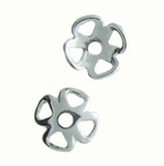 Sterling Silver 8mm Bead Cap 07 (6 pk)
