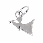 Sterling Silver Angel & Trumpet Charm