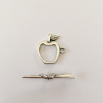 Sterling Silver Apple Toggle #12
