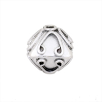 Sterling Silver Silver Bali Focal Bead 09, per bead