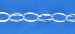 Sterling Silver Silver Chain 018 - Oval Cable - dbv