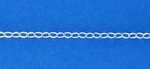 "Sterling Silver Chain 891 - Cable 2.1mm - 12"" minimun purchase"
