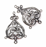 Sterling Silver Chandelier Earring Finding Component 1