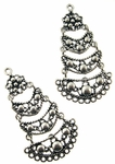 Sterling Silver Chandelier Earring Finding 3 Tier Articulated Component 12