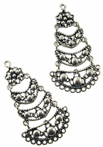 Sterling Silver Chandelier Earring Finding 3 Tier Articulated, 23x12mm, per pair, nbr12