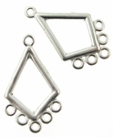Sterling Silver Chandelier Earring Finding Diamond Component 13