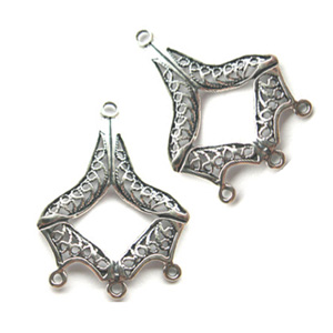Sterling Silver Chandelier Earring Finding Filigree Component 21