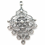 Sterling Silver Chandelier Earring Finding Filigree Component 22