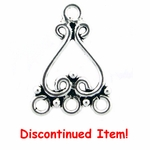 Sterling Silver Chandelier Earring Finding Heart Component 32