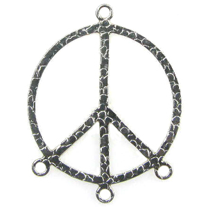 Sterling Silver Chandelier Earring Finding Peace Sign Component 60