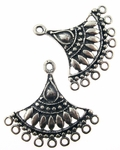 Sterling Silver Chandelier Earring Component 9
