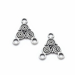 Sterling Silver Chandelier Earring Component 91 (Bali Handcrafted)