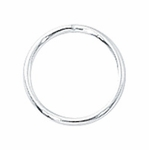 Sterling Silver Closed Jump Rings 12mm (10)