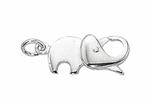 Sterling Silver Elephant Lobster Claw Clasp 20mm with open jump, per piece