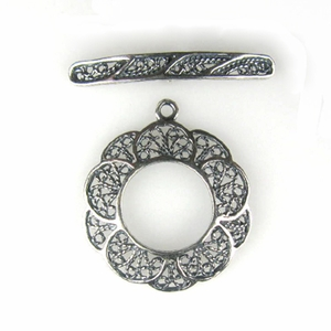 Sterling Silver Filigree #24 Toggle