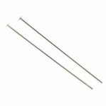 Sterling Silver Headpins 22 gauge, 1 inch, Bulk pack, 50 pieces