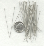 Sterling Silver Headpins 22 gauge, 2 inches, Bulk Pack, 50 pieces wholesale