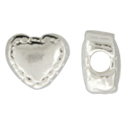 Sterling Silver Heart Bead - 5mm (qty 6)