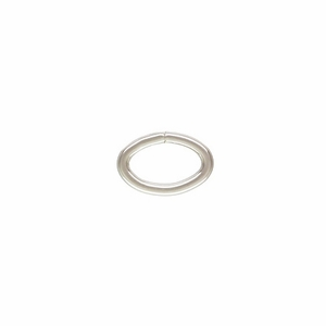 Sterling Silver Heavy Open Oval Jump Ring.  7.5x5mm 19.5ga (25) *new* Click & Lock USA