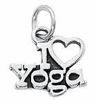 "Sterling Silver ""I Love Yoga"" Charm"
