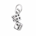 Sterling Silver Lucky Dice Charm