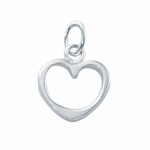 Sterling Silver Medium Open Heart Charm