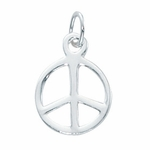 Sterling Silver Medium Peace Charm 11x14mm