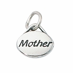 Sterling Silver Mother Message Charm